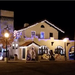 Belen Harvey House Lit Up for the Holidays