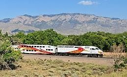 Train near the Sandia Pueblo Station