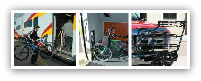 Collage of Photos of Onboarding Bikes