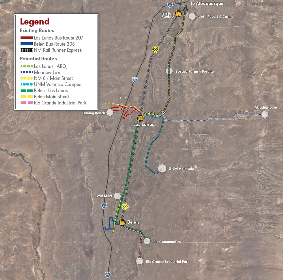 Valencia County Service Improvement Plan Map
