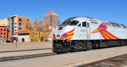 Train in Downtown Albuquerque