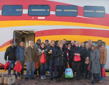ABQ RIDE retirees on the train