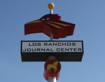 Los Ranchos Rail Station Sign