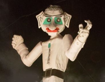 Giant white puppet