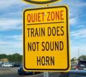 Quiet Zone Warning Sign