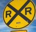 Rail Road Advance Warning Sign