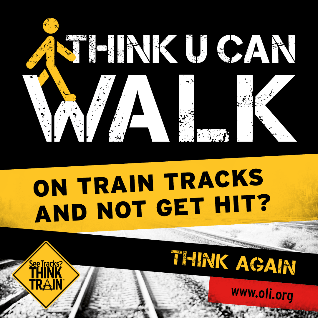 Walking on the tracks is both dangerous and trespassing